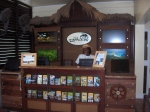 Island Routes booth in lobby of Sandals La Toc St. Lucia
