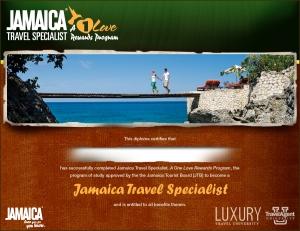 Jamaica Travel Specialist Certificate