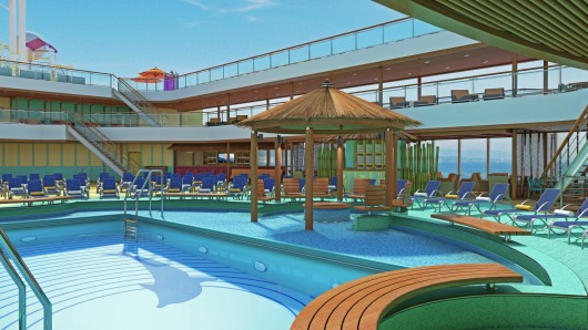 Carnival Breeze Beach Pool
