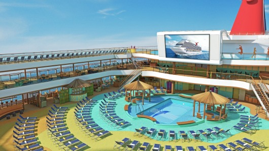 Carnival Breeze Pool Area