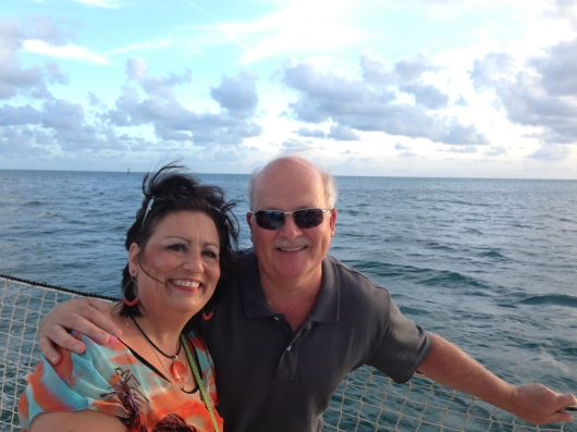 Aboard our sunset cruise with Danger Charters, Key West