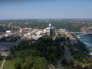 View from Skylon looking toward the Clifton Hill area