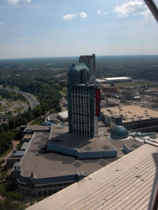 View of the newer Fallsview Casino