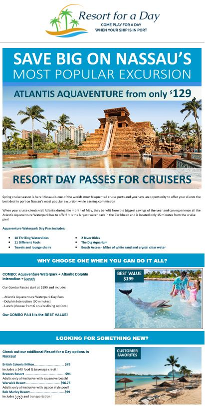 Resort For a Day All Inclusive Resort Day Passes