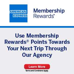 Redeem points for travel with our agency
